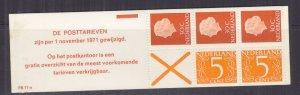 NETHERLANDS, 1971 Booklet, PB 11-a, Orange cover, mnh.