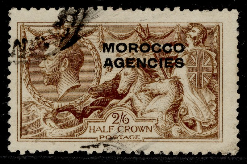 MOROCCO AGENCIES GV SG51, 2s 6d yellow-brown, USED. Cat £35.