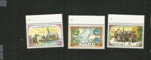 AITUTAKI 1992 SCOTT 479-81 MNH