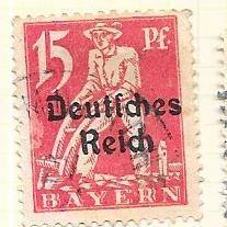 Bavaria #258 15pf  carmine   Plowman  (U) CV $1.60