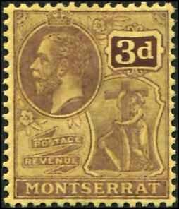 Montserrat SC# 47 KGV 3d MH wmk 3