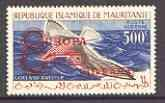 Mauritania 1962 Slender-billed gull 500f opt'd Europa wit...
