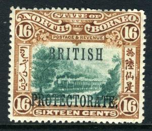 NORTH BORNEO-1901-5 16c Green & Chestnut Perf 14½x15 mounted mint Sg 136a