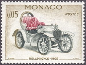 Monaco # 489 hinged ~ 5¢ Automobile