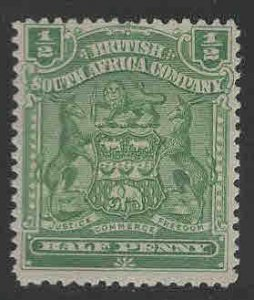 Rhodesia Scott 59 MH* coat of arms stamp 1901