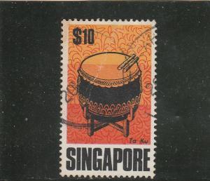 Singapore  Scott#  111  Used  (1969 Chinese Drum)