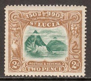 St. Lucia - Scott #49 - MH - Gum toning - SCV $11.00