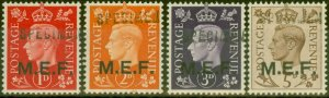 Middle East Forces 1942 Specimen set of 4 SGM1s-M5s Very Fine MNH