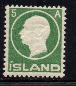 Iceland 1912 5 aur green Frederik VIII stamp mint