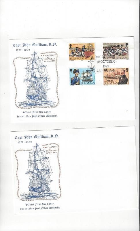 Isle of Man FDC 158-61 Capt. John William, R.N. Official Cachet