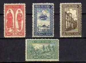 TURKEY/1940 - 100th YEARS OF THE TURKISHPOST SET, MNH, Mi: 1094/1097,SC# 859/862