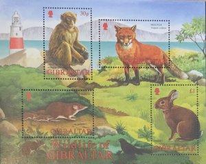 Gibraltar MNH S/S 912a Wildlife Mammals 2002