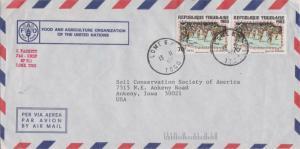 Togo 70F Folkdances (2) 1984 Lome R.P., Togo Airmail to Ankeny, Iowa. Illustr...