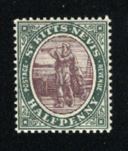 St. Kitts and Nevis #1   Mint NH VF 1903 PD