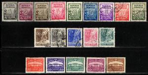 Indonesia # 368-400 ~ Cplt Set of 34 ~ Used, HMR, MX ~ cv 7.00+