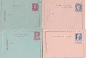 Belgium 8 Letter Cards 1880s & 1890s Unused