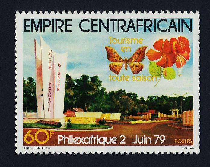 Central Africa 384 MNH Butterfly, Memorial, Hibiscus Flowers