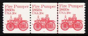 USA — SCOTT 1908 — FIRE PUMPER — PNC PS3 #2 — WITH GRIPPER CRACK PLATE VARIETY