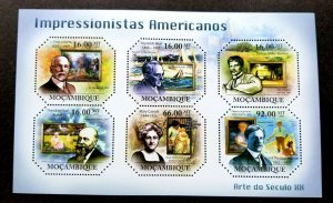 Mozambique American Painting 2011 Baby Boat Art (ms) MNH *odd shape *unusual