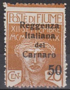 Fiume #115 Fine Unused CV $5.00 (B809)