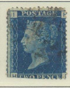 Great Britain Stamp Scott #30 Plate 14, Used, Straight Edge - Free U.S. Shipp...