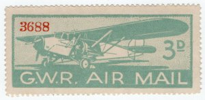 (I.B) Cinderella Collection : Great Western Railway Air Mail 3d