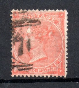 GB QV 4d pale red SG82 Hairlines good used WS21559