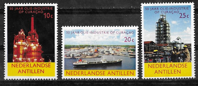 Netherlands Antilles # 292-94 Curacao Oil Industry  (3)   Mint NH