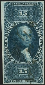 MOMEN: US STAMPS #R97a IMPERF REVENUE USED PF CERT VF LOT #71119