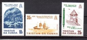 Tristan da Cunha 368-370 MNH