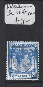 MALAYA  MALACCA  (PP1605B)  KGVI 20C  SG 11A  MOG