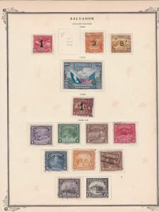 salvador stamps page ref 17169