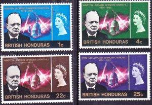 BRITISH HONDURAS 1966QEII 1c/4c/22c/25c Churchill Set SG226-229MH