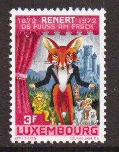 Luxembourg   #516  MNH 1972   Renert   satirical poem