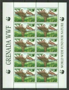 W0018 1999 GRENADA WWF FAUNA BIRDS DOVES 1SH FIX