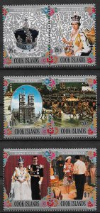 1977 Cook Islands 465-7 Silver Jubilee MNH C/S of 3 pairs