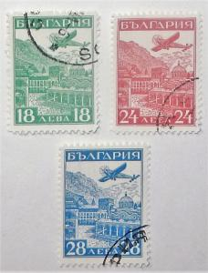 Bulgaria C12-14. 1932 Plane over Rila Monastery, used