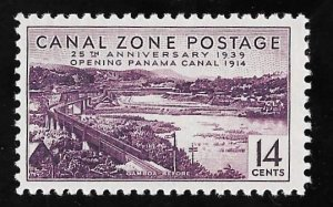 CANAL ZONE 130 14 cents 25th Anniversary Stamp Mint OG NH VF