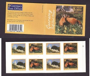 Guernsey - Sc#628b- id2-used complete booklet-Animals-Cows-