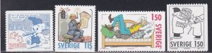 Sweden # 1335-1338, Comic Strip characters, NH, 1/2 Cat.
