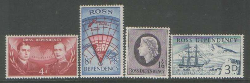 ROSS DEP SG 1/4 MOUNTED hinged MINT