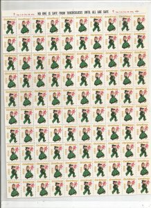 1956 CHRISTMAS SEALS, FULL SHEET