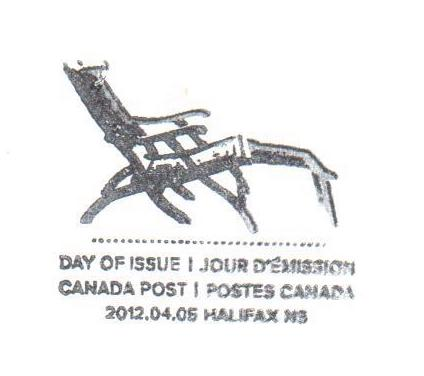 Canada Special Cancel from Canada Post - HALIFAX NS - 2012-04-05 - Chair