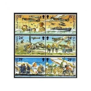 Isle of Man 426-431a,MNH.Michel 442-447. Battle of Britain-50,1990.