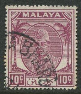 STAMP STATION PERTH Kelantan #56 Sultan Ibrahim Wmk 4 Used 1951