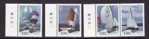 Ireland-Sc#1332-5-unused NH set-Sailboats-2001-