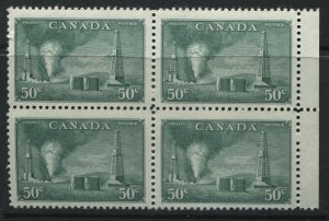 1950 50 cents Oil Well block of 4 unmounted mint NH