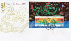 CI8a) Christmas Island 2000 Chinese New Year Series - Year Of The Dragon M/S