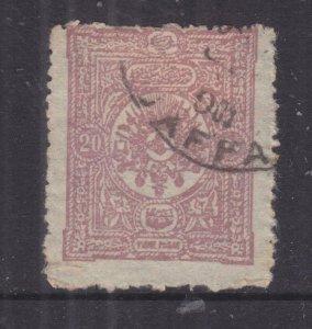 ISRAEL, PALESTINE, JAFFA cds.on Turkey 1890 20p.