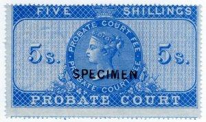 (I.B) QV Revenue : Probate Court 5/- (specimen)